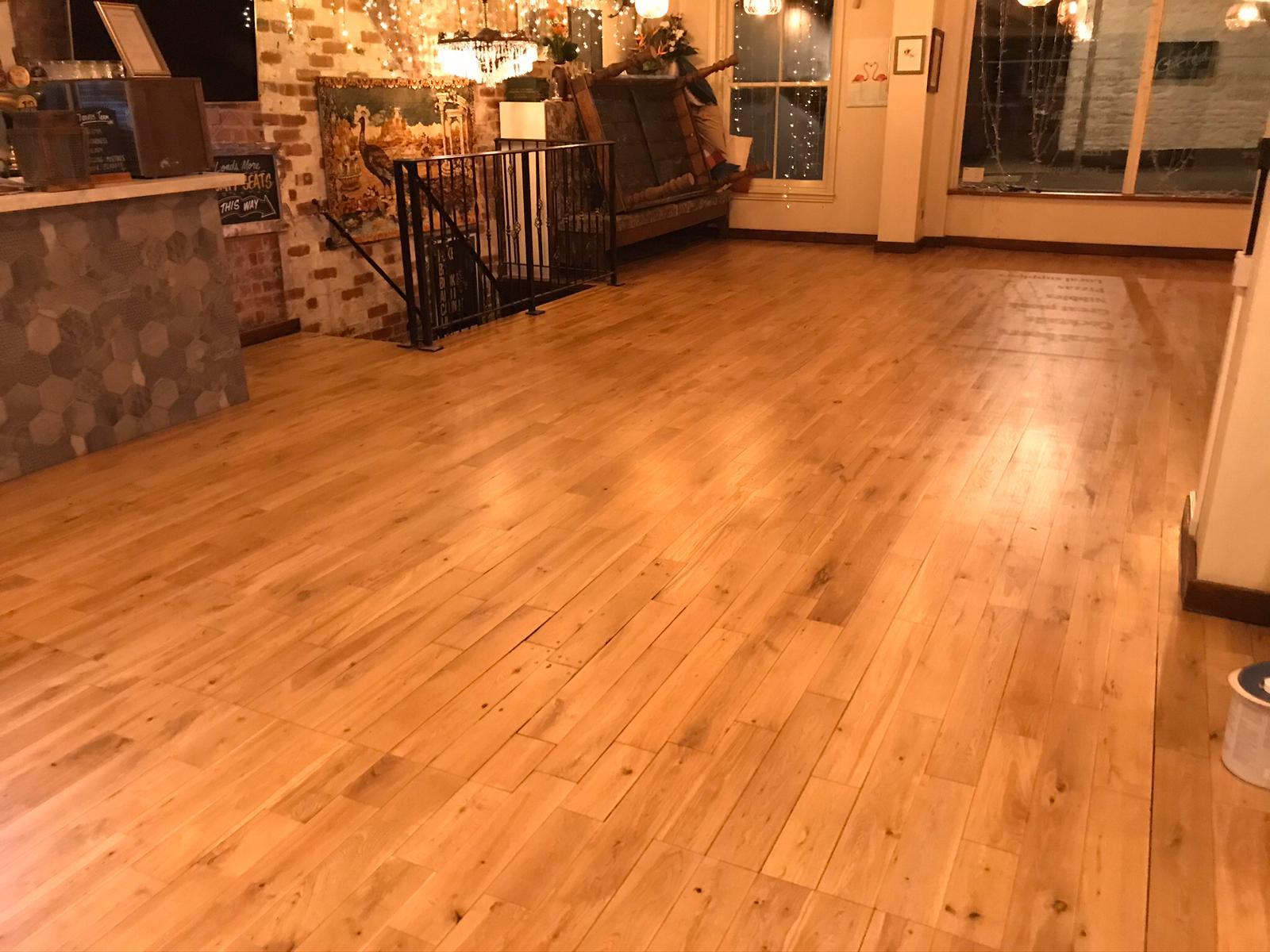Tom Foolery Pub Floor Restoration