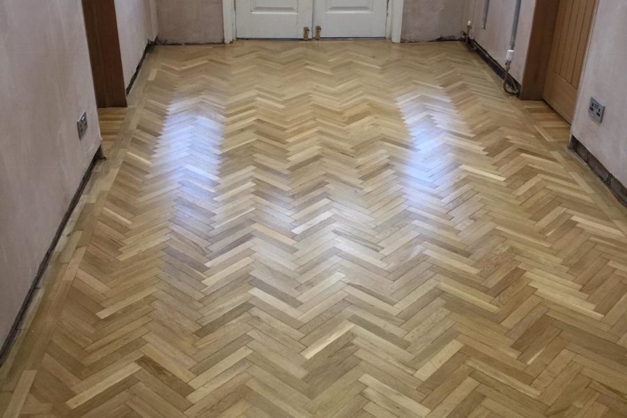 Hallway floor restoration - Driffield
